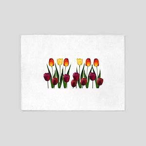 Tulips 5'x7'Area Rug