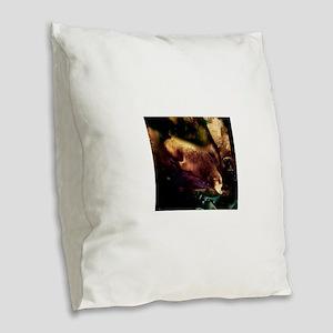 Sleeping Seal Burlap Throw Pillow