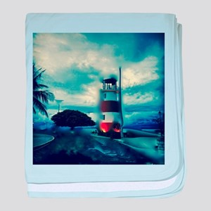 Lighthouse in Costa Rica baby blanket