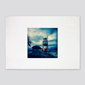 Lighthouse in Costa Rica 5'x7'Area Rug