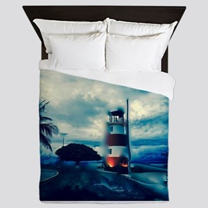 Lighthouse in Costa Rica Queen Duvet