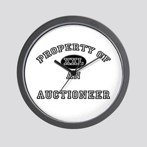 Property of an Auctioneer Wall Clock