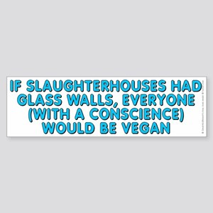 If slaughterhouses - Sticker (Bumper)