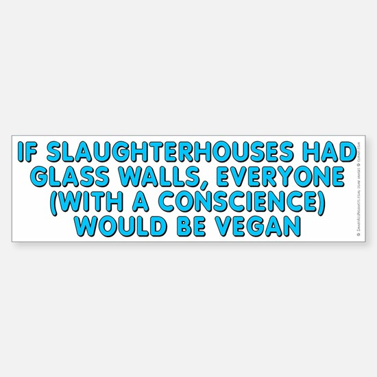 If slaughterhouses - Sticker (Bumper)