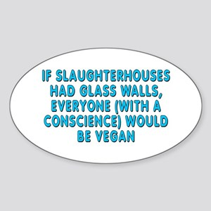 If slaughterhouses - Sticker (Oval)