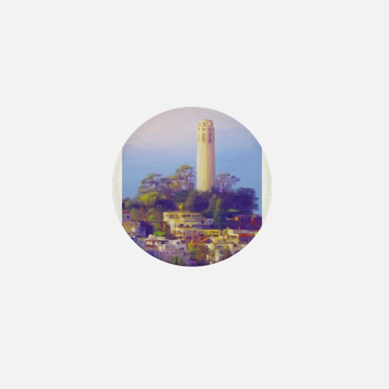 Coit Tower Mini Button