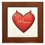 Mom Devil Framed Tile