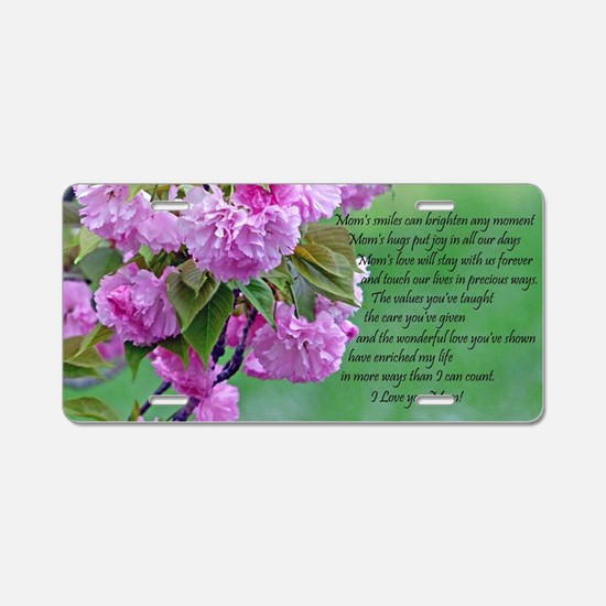 Mothers Day Poem Aluminum License Plate