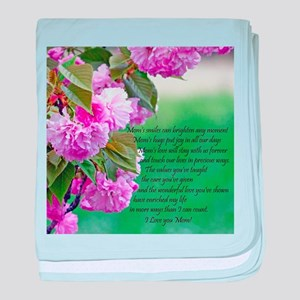 Mothers Day Poem baby blanket