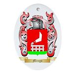 Mingo Oval Ornament