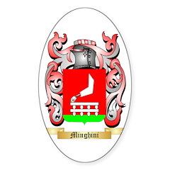 Minghini Sticker (Oval)