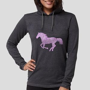 Purple Paisley Horse Long Sleeve T-Shirt