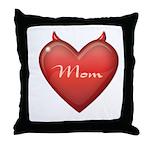 Mom Devil Throw Pillow
