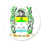 Minett Round Car Magnet