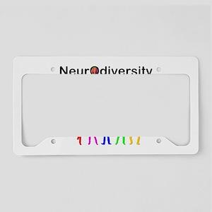 Neurodiversity Evolution License Plate Holder