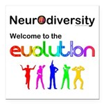 Neurodiversity Evolution Square Car Magnet 3