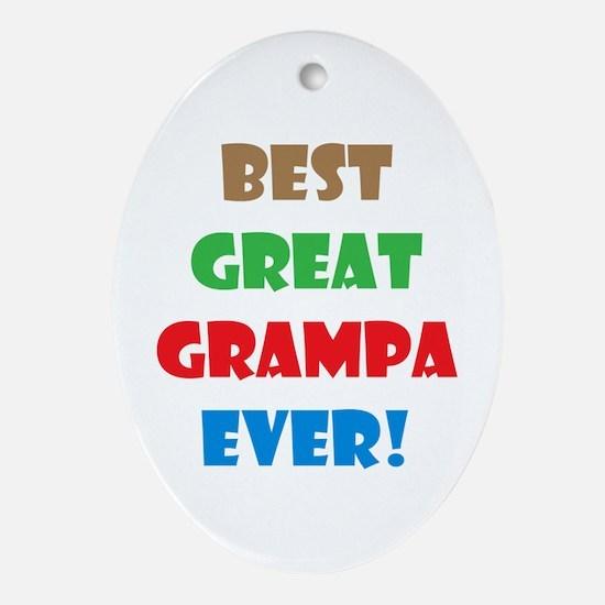 Cute Grampa Oval Ornament
