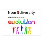 Neurodiversity Evolution Postcards (Package of 8)