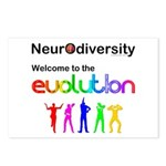 Neurodiversity Evolution Postcards (Package of 8)