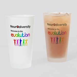 Neurodiversity Evolution Drinking Glass