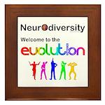 Neurodiversity Evolution Framed Tile