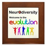Neurodiversity Evolution Framed Tile