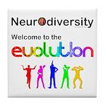 Neurodiversity Evolution Tile Coaster