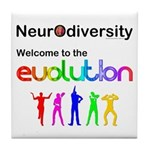 Neurodiversity Evolution Tile Coaster
