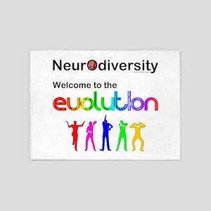 Neurodiversity Evolution 5'x7'Area Rug