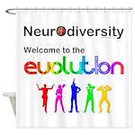Neurodiversity Evolution Shower Curtain