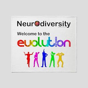 Neurodiversity Evolution Throw Blanket