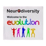 Neurodiversity Evolution Throw Blanket
