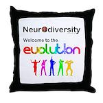 Neurodiversity Evolution Throw Pillow