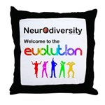 Neurodiversity Evolution Throw Pillow