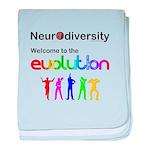 Neurodiversity Evolution baby blanket