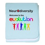Neurodiversity Evolution baby blanket
