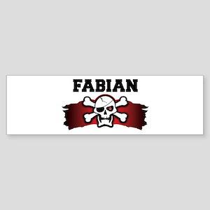 fabian is a pirate Bumper Sticker
