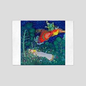 Russian Fairy Tale - The Firebird b 5'x7'Area Rug