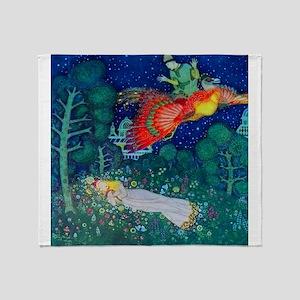 Russian Fairy Tale - The Firebird by Throw Blanket