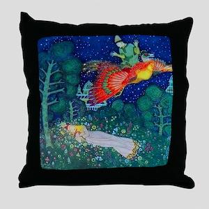 Russian Fairy Tale - The Firebird by Throw Pillow