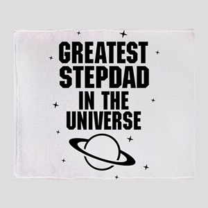 Greatest Stepdad In The Universe Throw Blanket