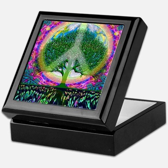 World Peace Symbol Keepsake Box