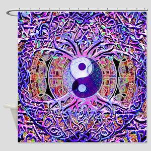 Yin Yang Tree of Life Shower Curtain