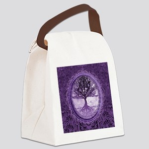Tree of Life in Purple Canvas Lunch Bag