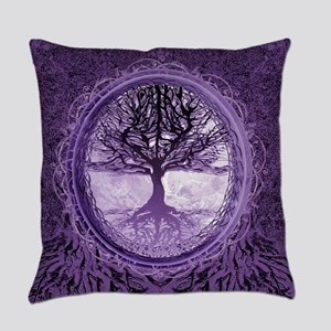 Tree of Life in Purple Everyday Pillow