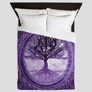 Tree of Life in Purple Queen Duvet