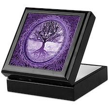Tree of Life in Purple Keepsake Box