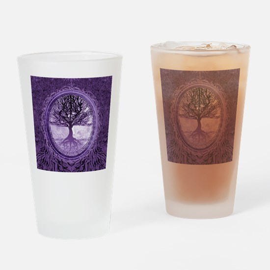 Tree of Life in Purple Drinking Glass