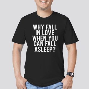 Why fall love fall asl Men's Fitted T-Shirt (dark)