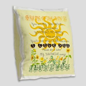 You are my sunshine! Burlap Throw Pillow